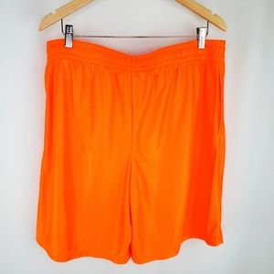 Starter bright orange shorts L